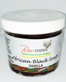 Raw Essence African Black Soap - Vanilla