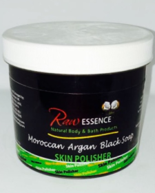 Raw Essence Moroccan Argan Black Soap